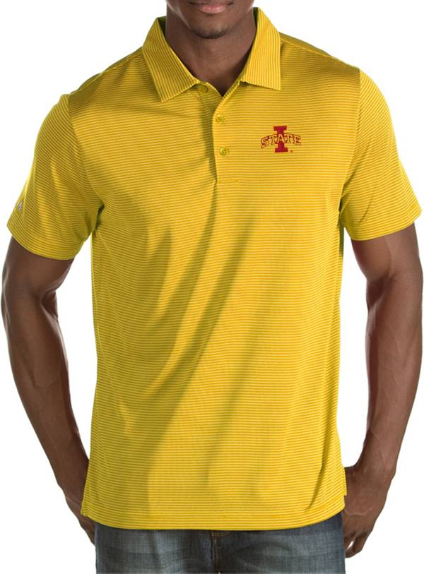 Antigua Men's Iowa State Cyclones Gold Quest Polo product image