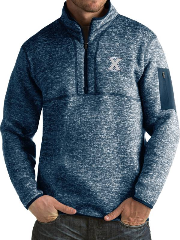 Antigua Men's Xavier Musketeers Blue Fortune Pullover Jacket product image