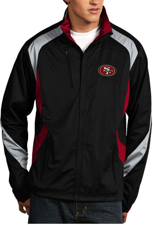 Antigua Men s San Francisco 49ers Tempest Black Full-Zip Jacket.  noImageFound. 1 217d48afc