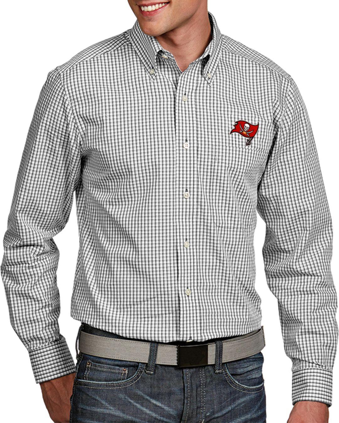dbe5c223 Antigua Men's Tampa Bay Buccaneers Associate Button Down Dress Shirt