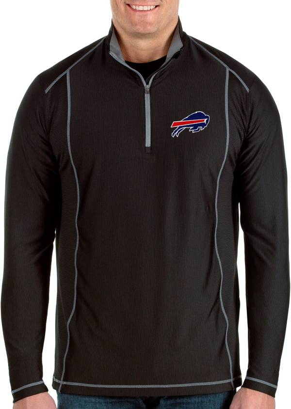 Antigua Men's Buffalo Bills Tempo Black Quarter-Zip Pullover product image