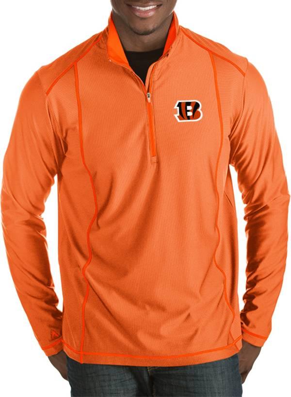 Antigua Men's Cincinnati Bengals Tempo Orange Quarter-Zip Pullover product image