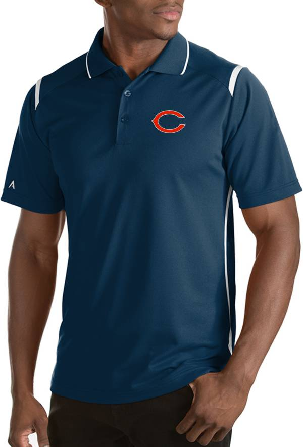 Antigua Men's Chicago Bears Merit Navy Xtra-Lite Polo product image