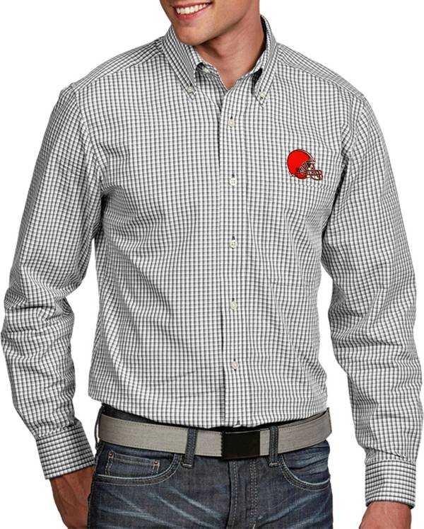 Antigua Men's Cleveland Browns Associate Button Down Dress Shirt product image