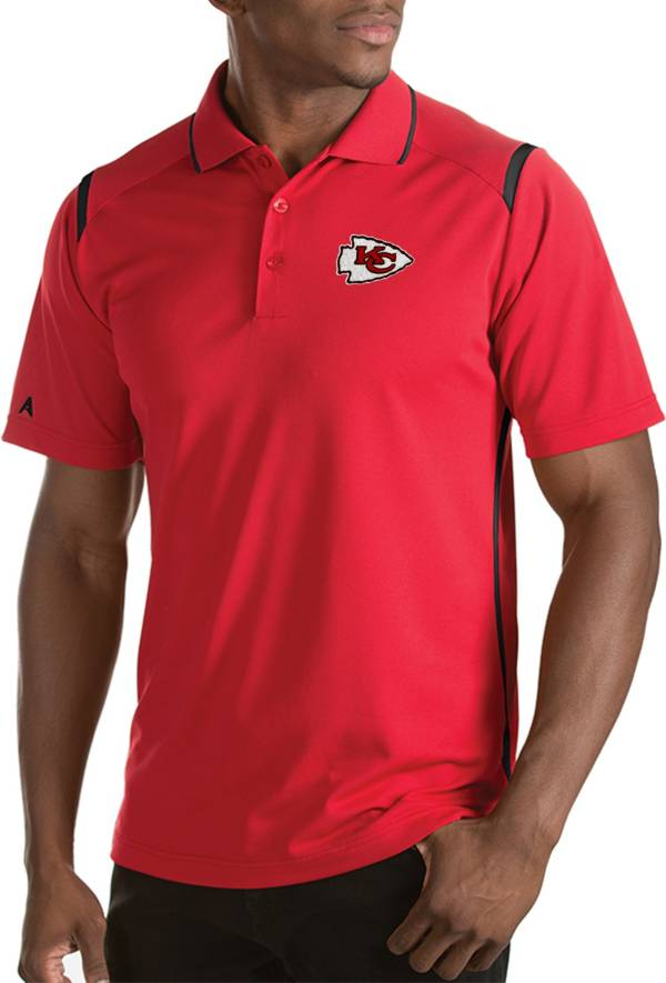 Antigua Men's Kansas City Chiefs Merit Red Xtra-Lite Polo product image