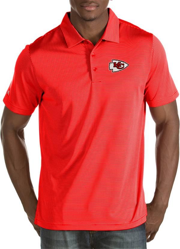 Antigua Men's Kansas City Chiefs Quest Red Polo product image