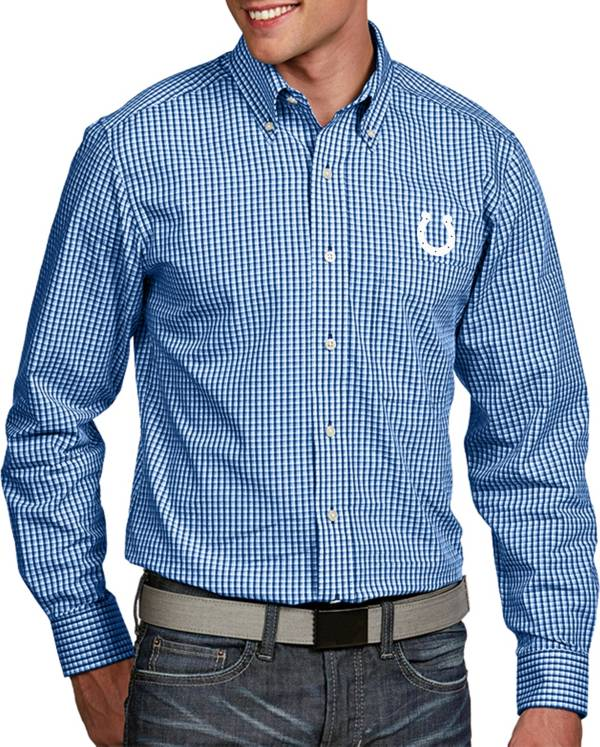 Antigua Men's Indianapolis Colts Associate Button Down Dress Shirt product image