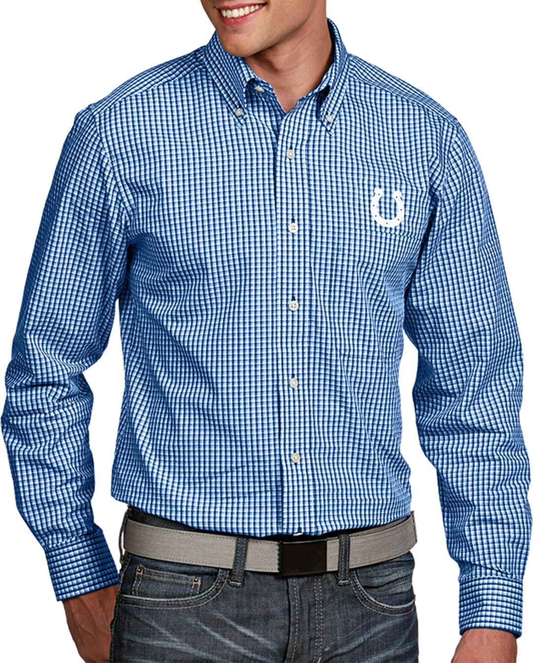 new style 38bc4 e1955 Antigua Men's Indianapolis Colts Associate Button Down Dress Shirt