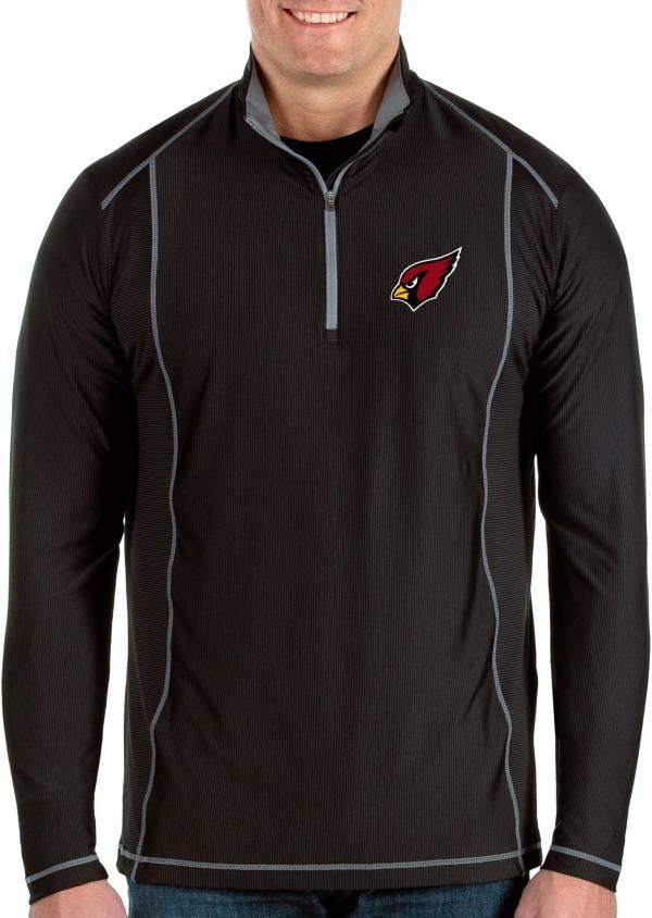 Antigua Men's Arizona Cardinals Tempo Black Quarter-Zip Pullover product image