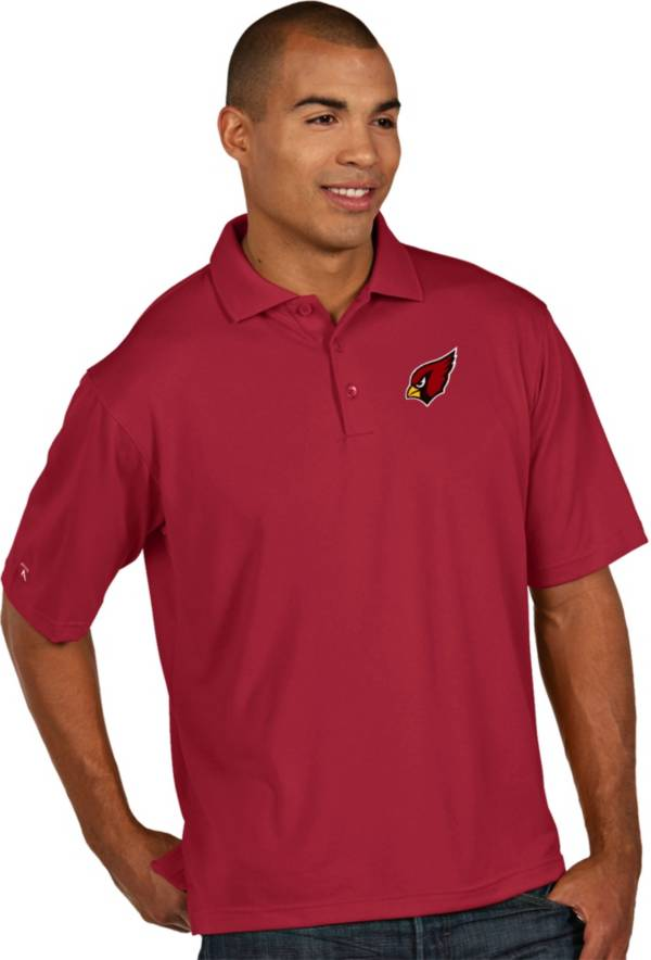 Antigua Men's Arizona Cardinals Pique Xtra-Lite Red Polo product image