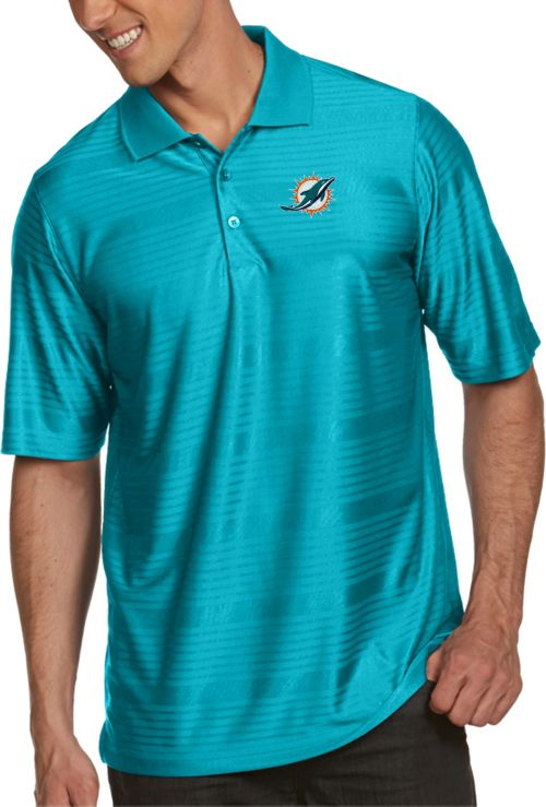 bdef204be Antigua Men s Miami Dolphins Illusion Aqua Xtra-Lite Polo. noImageFound. 1