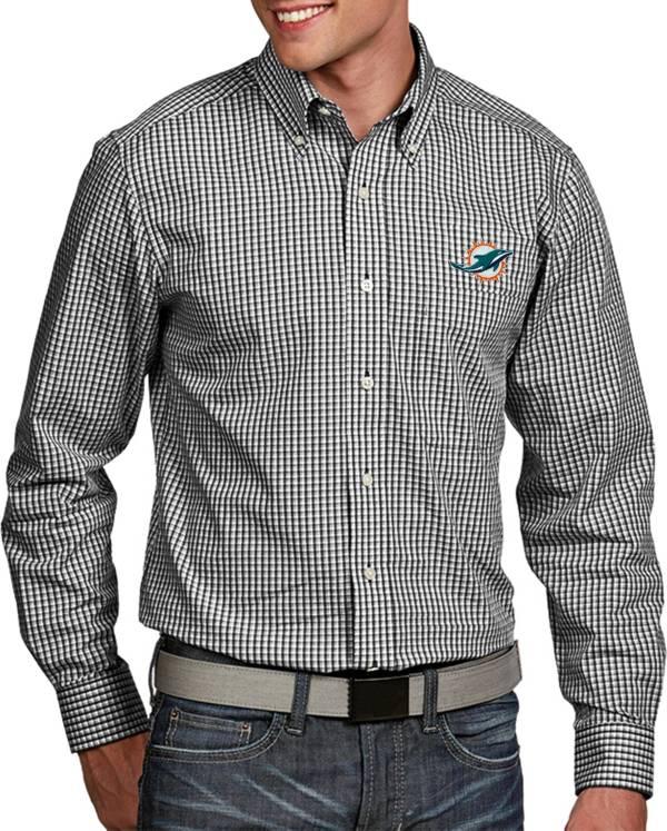 Antigua Men's Miami Dolphins Associate Button Down Dress Shirt product image