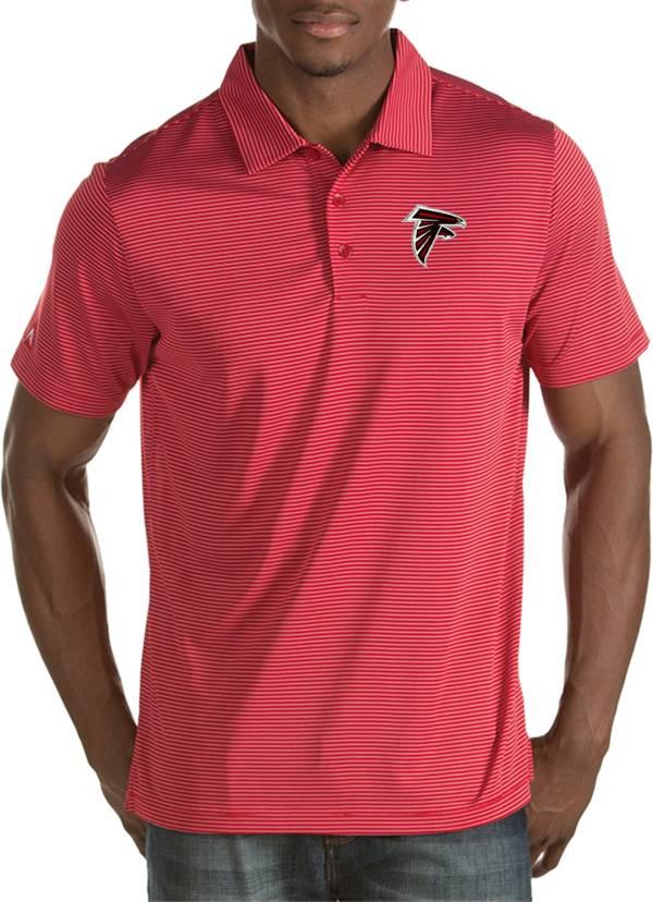 Antigua Men's Atlanta Falcons Quest Red Polo product image