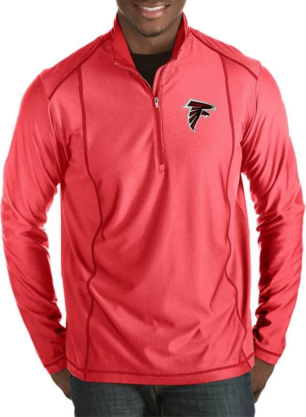 Antigua Men's Atlanta Falcons Tempo Red Quarter-Zip Pullover product image