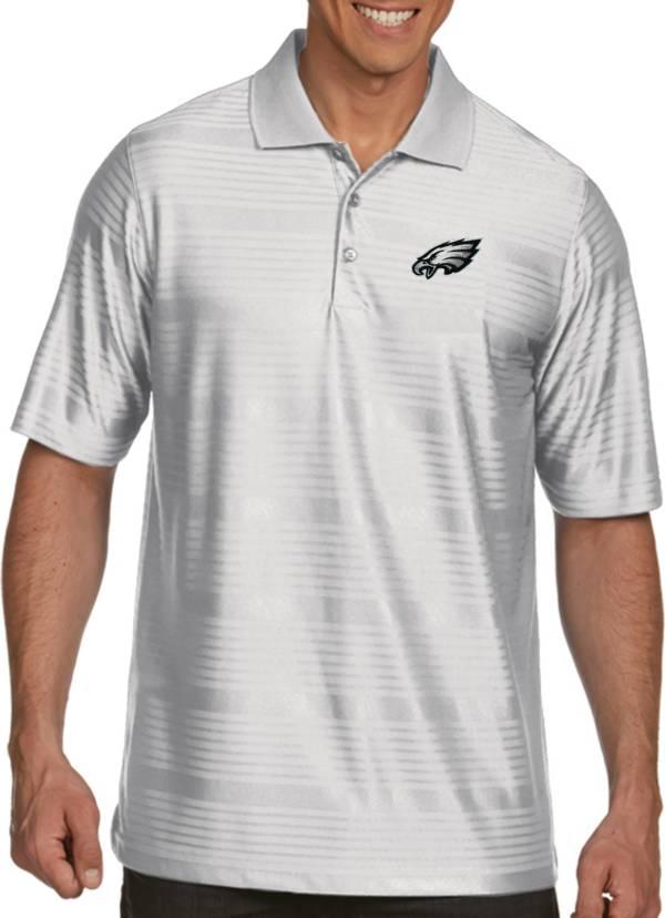 Antigua Men's Philadelphia Eagles Illusion White Xtra-Lite Polo product image