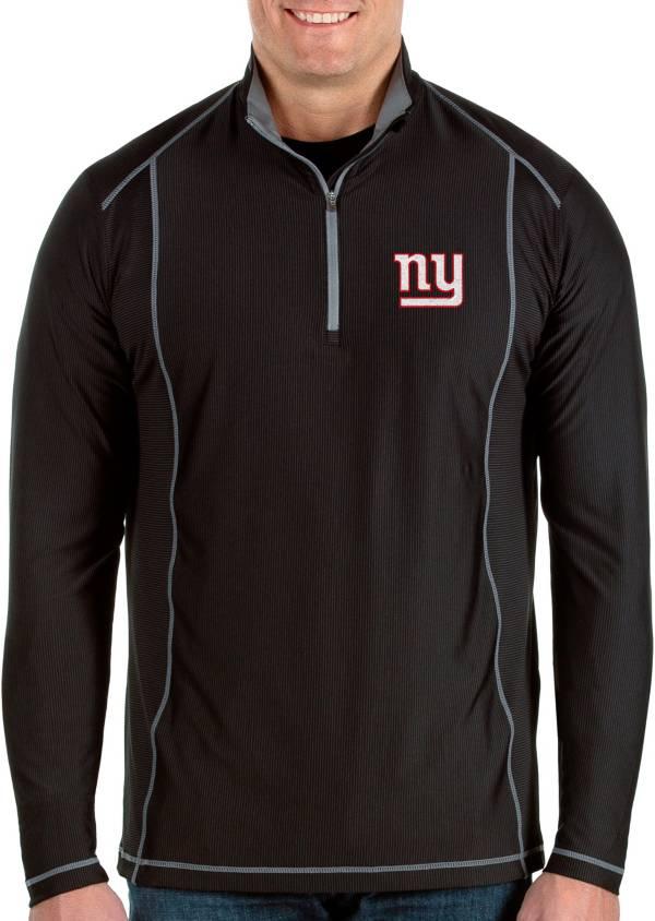 Antigua Men's New York Giants Tempo Black Quarter-Zip Pullover product image