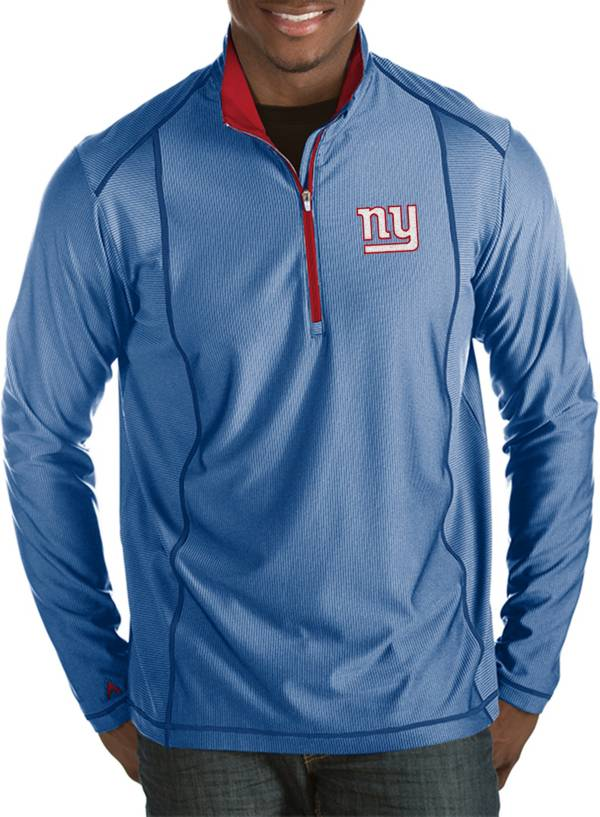 Antigua Men's New York Giants Tempo Royal Quarter-Zip Pullover product image