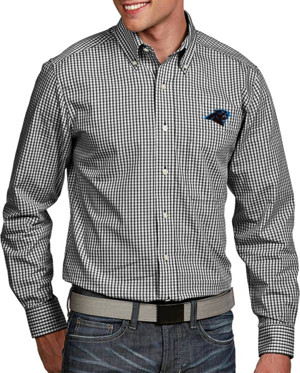 Antigua Men's Carolina Panthers Associate Button Down Dress Shirt product image