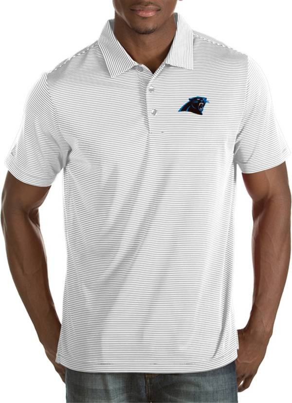 Antigua Men's Carolina Panthers Quest White Polo product image