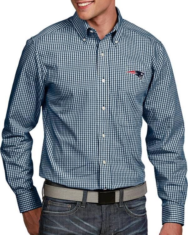 Antigua Men's New England Patriots Associate Button Down Dress Shirt product image