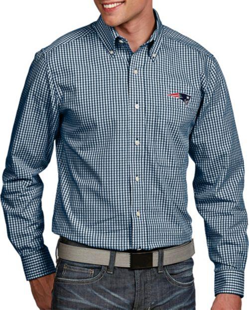 32e6be67cfd Antigua Men's New England Patriots Associate Button Down Dress Shirt.  noImageFound. 1