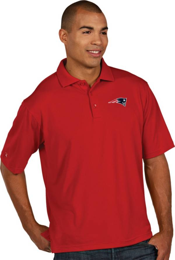Antigua Men's New England Patriots Pique Xtra-Lite Red Polo product image