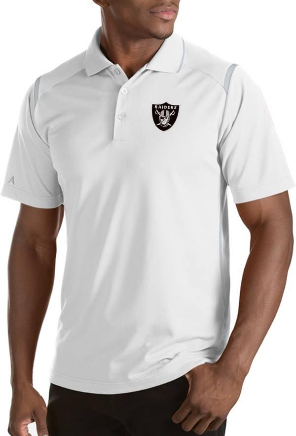 Antigua Men's Las Vegas Raiders Merit White Xtra-Lite Polo product image