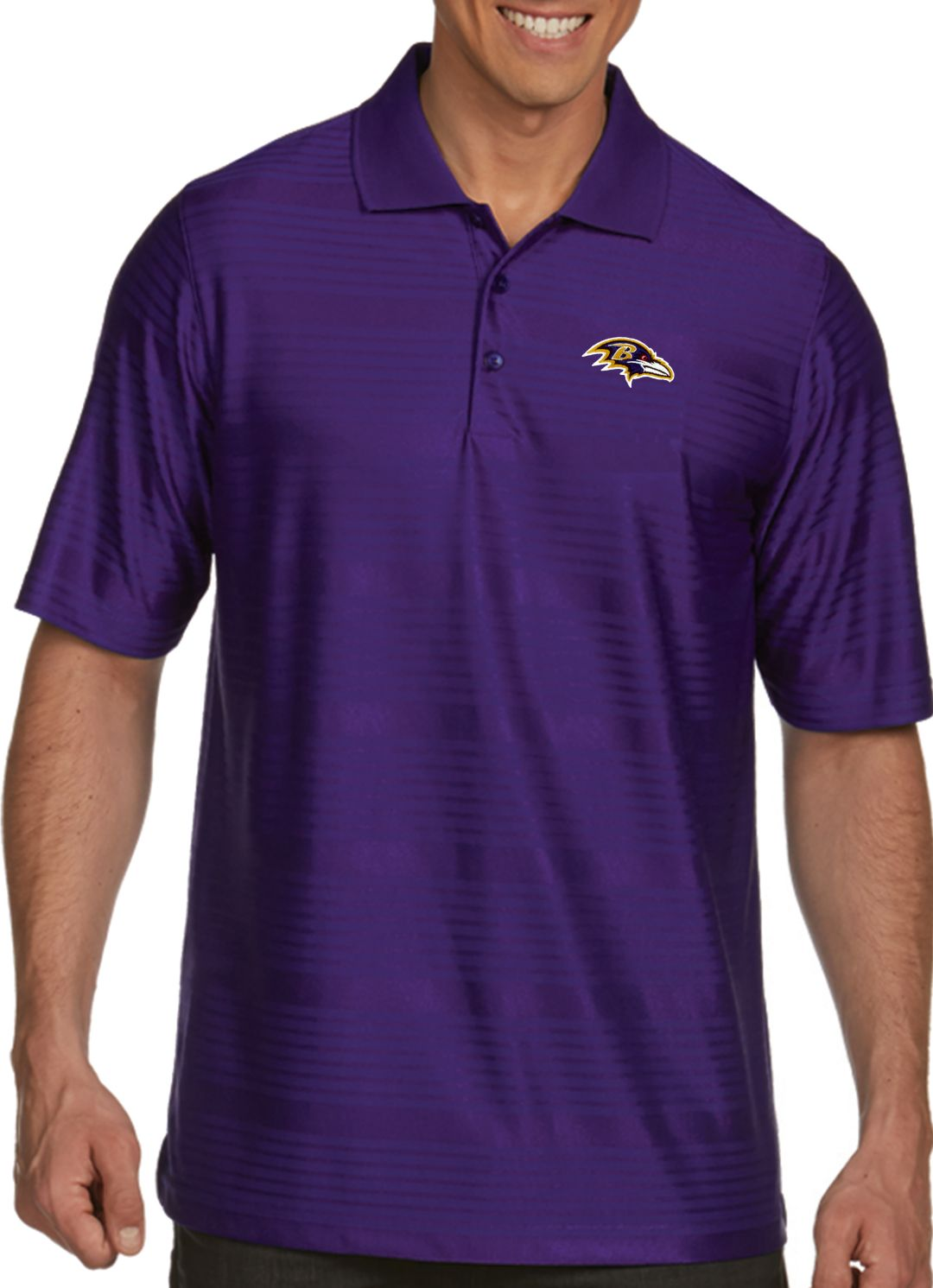 a95121d6 Antigua Men's Baltimore Ravens Illusion Purple Xtra-Lite Polo