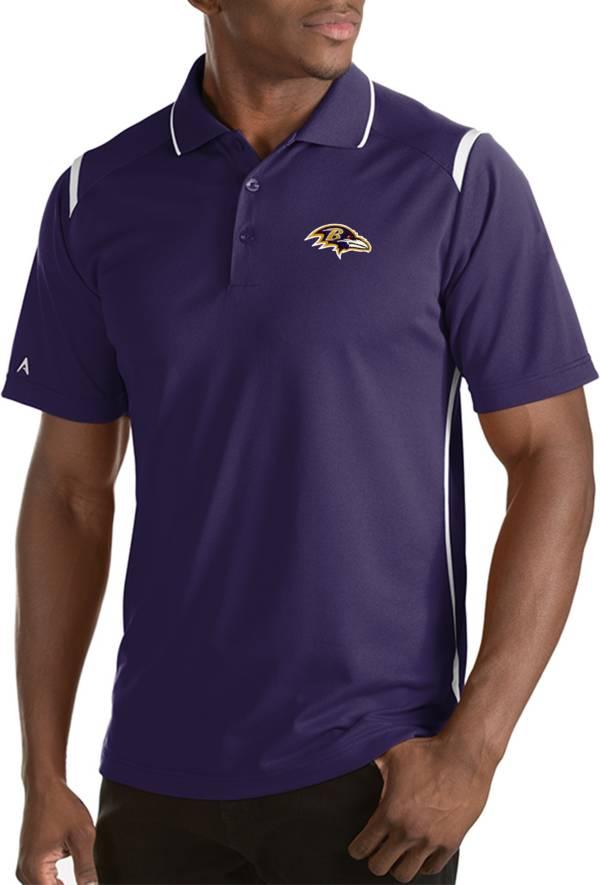 Antigua Men's Baltimore Ravens Merit Purple Xtra-Lite Polo product image