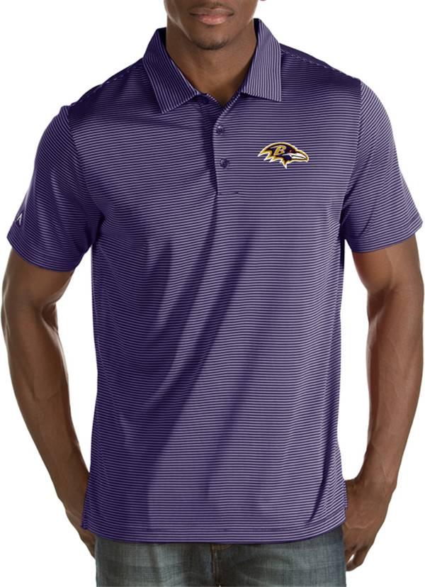 Antigua Men's Baltimore Ravens Quest Purple Polo product image
