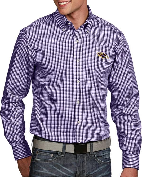 Antigua Men's Baltimore Ravens Associate Button Down Dress Shirt product image