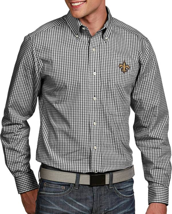 Antigua Men's New Orleans Saints Associate Button Down Dress Shirt product image