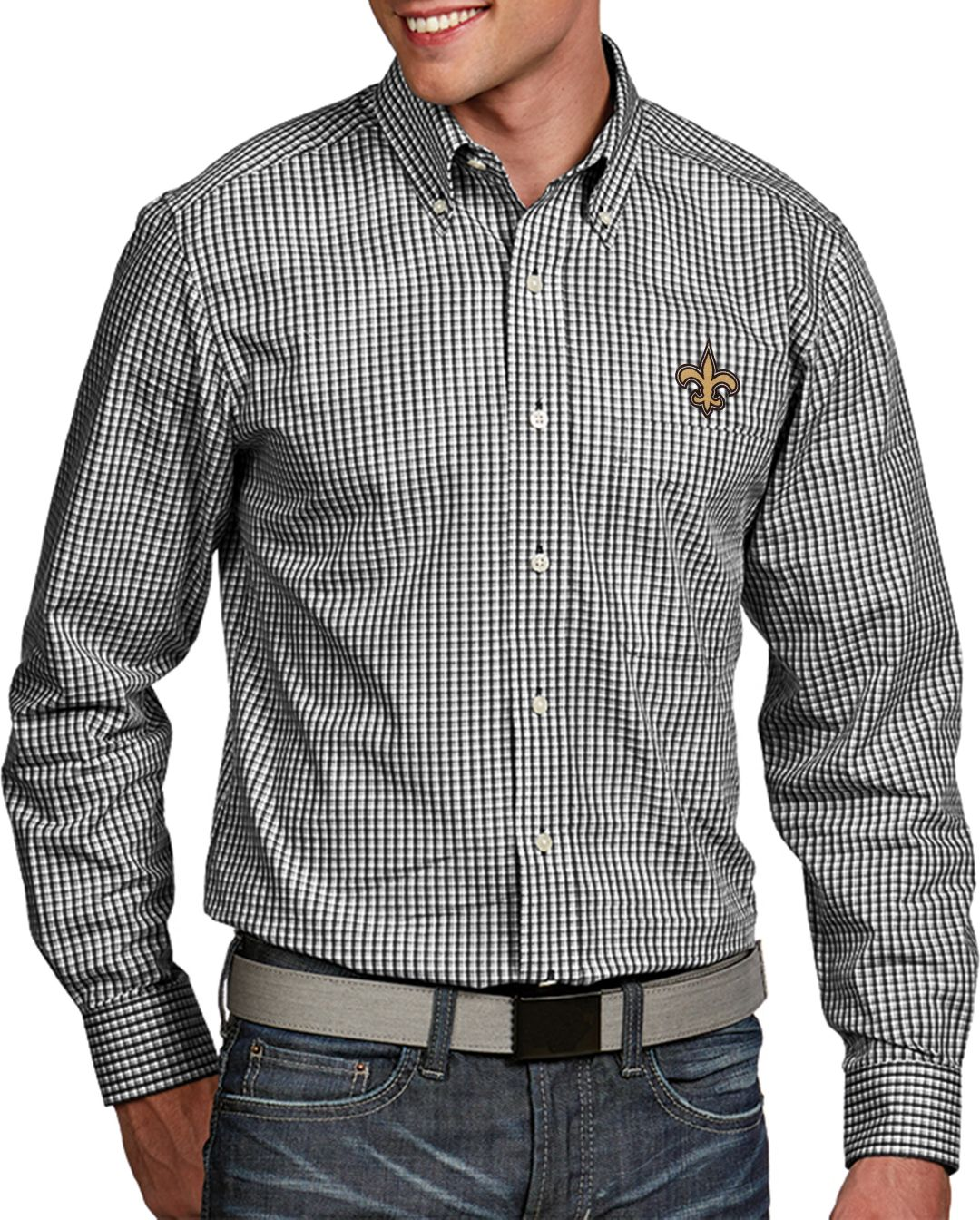 buy online 6accc 95835 Antigua Men's New Orleans Saints Associate Button Down Dress Shirt