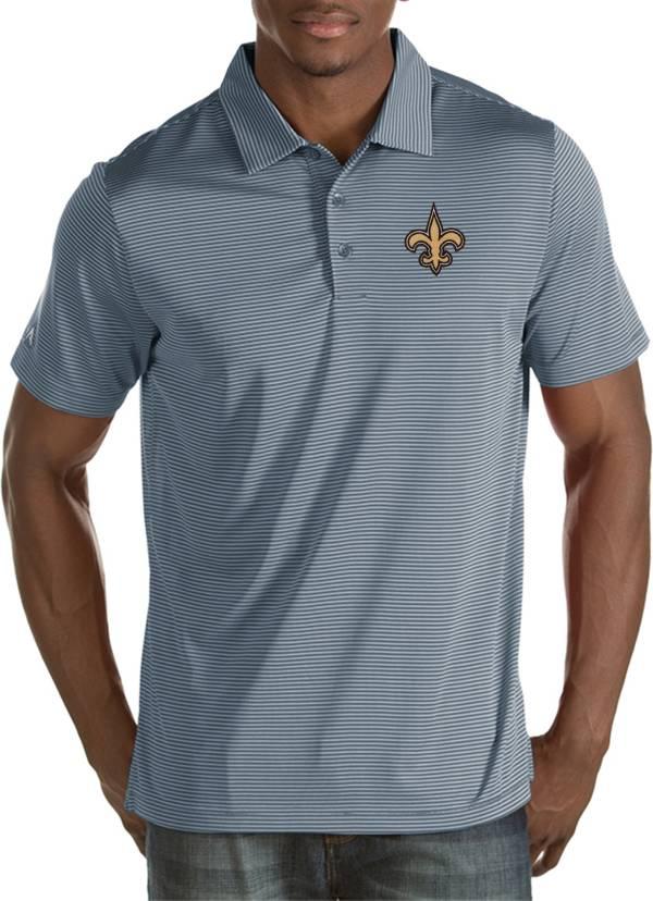 Antigua Men's New Orleans Saints Quest Grey Polo product image