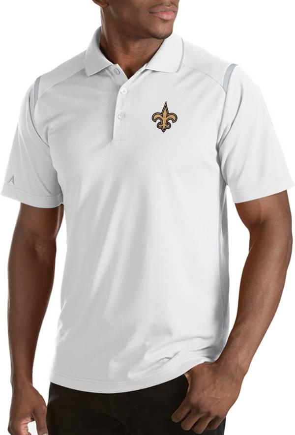 Antigua Men's New Orleans Saints Merit White Xtra-Lite Polo product image