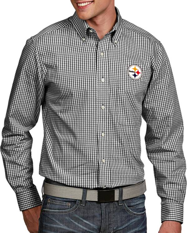 Antigua Men's Pittsburgh Steelers Associate Button Down Dress Shirt product image