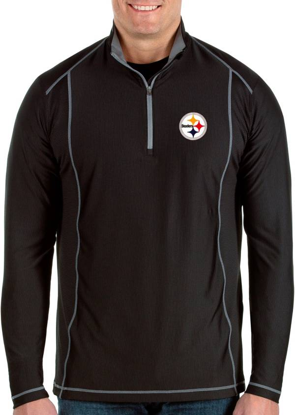 Antigua Men's Pittsburgh Steelers Tempo Black Quarter-Zip Pullover product image