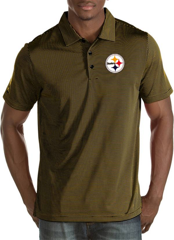 Antigua Men's Pittsburgh Steelers Quest Black Polo product image