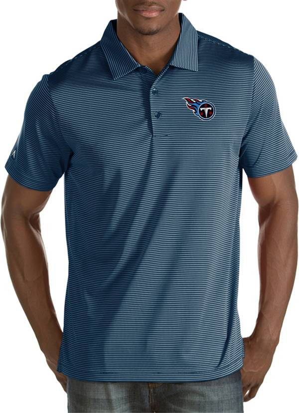 Antigua Men's Tennessee Titans Quest Navy Polo product image