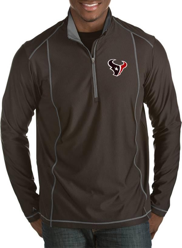 Antigua Men's Houston Texans Tempo Black Quarter-Zip Pullover product image