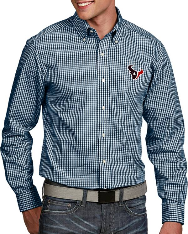 Antigua Men's Houston Texans Associate Button Down Dress Shirt product image