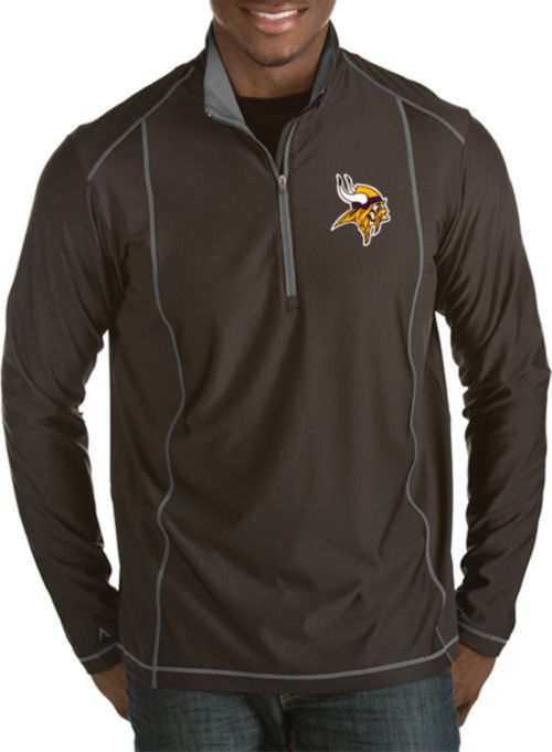 922fa5e66e2 Antigua Men's Minnesota Vikings Tempo Black Quarter-Zip Pullover.  noImageFound. 1
