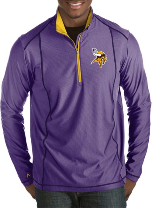 56ea40f06ec Antigua Men's Minnesota Vikings Tempo Purple Quarter-Zip Pullover.  noImageFound. 1