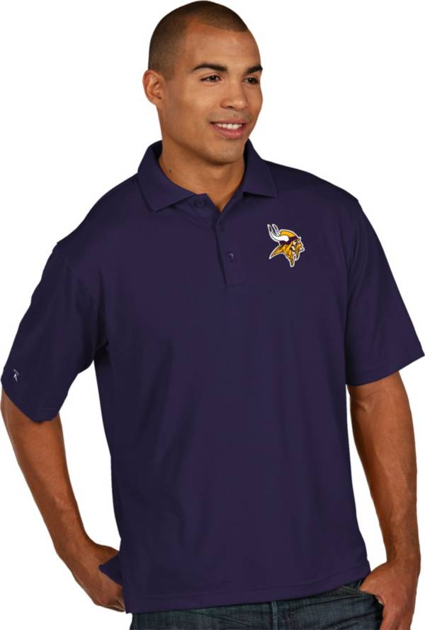 Antigua Men's Minnesota Vikings Pique Xtra-Lite Purple Polo product image