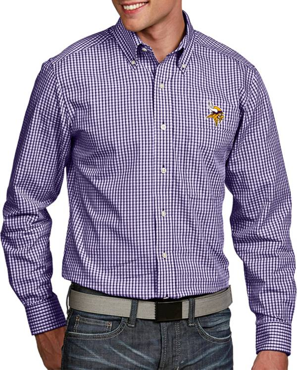 Antigua Men's Minnesota Vikings Associate Button Down Dress Shirt product image