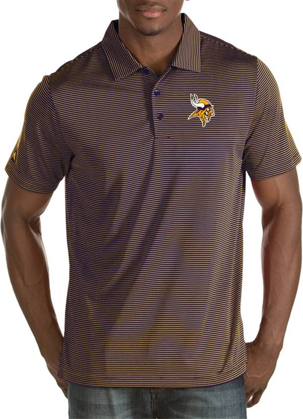 Antigua Men's Minnesota Vikings Quest Purple Polo product image