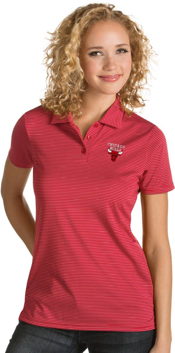 Antigua Women's Chicago Bulls Xtra-Lite Red Quest Performance Polo product image