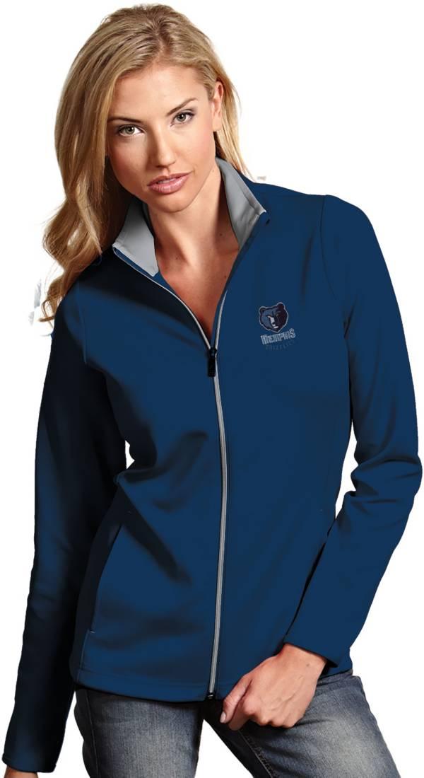 Antigua Women's Memphis Grizzlies Leader Navy Full-Zip Fleece product image