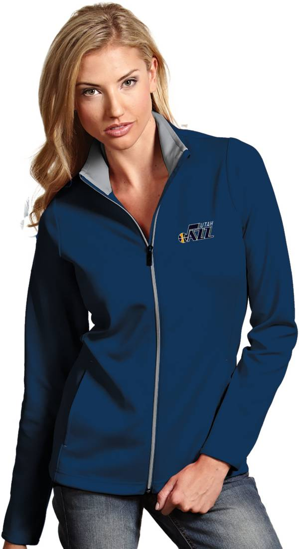 Antigua Women's Utah Jazz Leader Navy Full-Zip Fleece product image