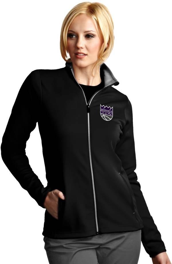 Antigua Women's Sacramento Kings Leader Black Full-Zip Fleece product image